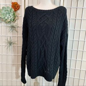 Polo Ralph Lauren Black Chunky Cable Knit